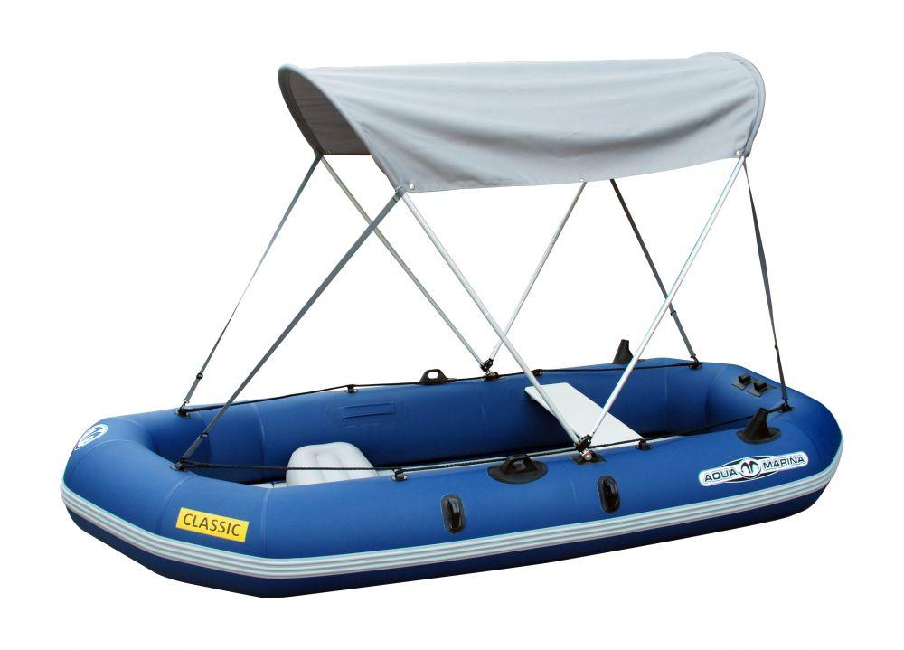 Aqua Marina Felfújható CLASSIC gumicsónak Aqua Marina + motortartó + tető